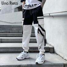 2021 nova chegada joggers hip hop função fivela design calças homens branco casual calças de carga