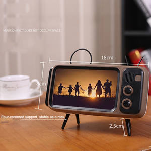 Bluetooth Speaker Music-Player Stereo-Bracket Mobile-Phone Retro Portable Home Wireless