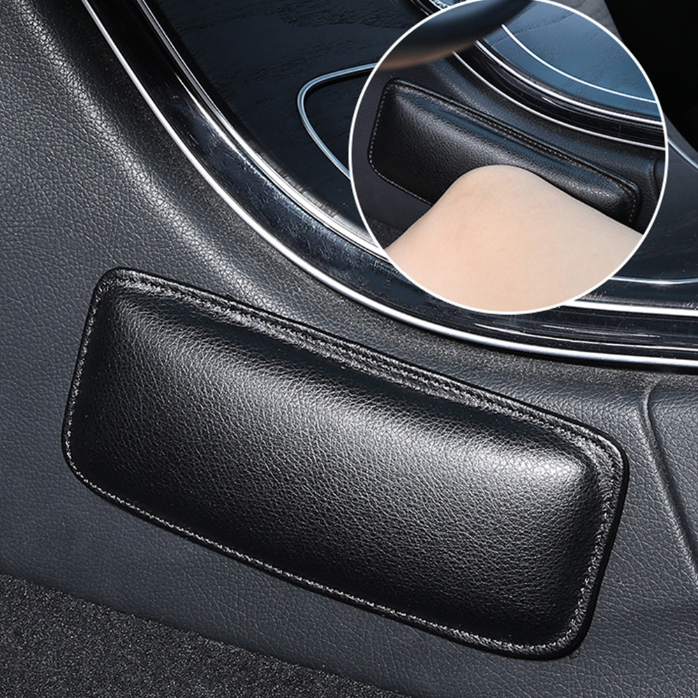 LEEPEE Interior Accessories 18X8cm PU Leather Car Interior Knee Pad   Elastic Cushion Memory Foam Comfortable  Thigh Support 1