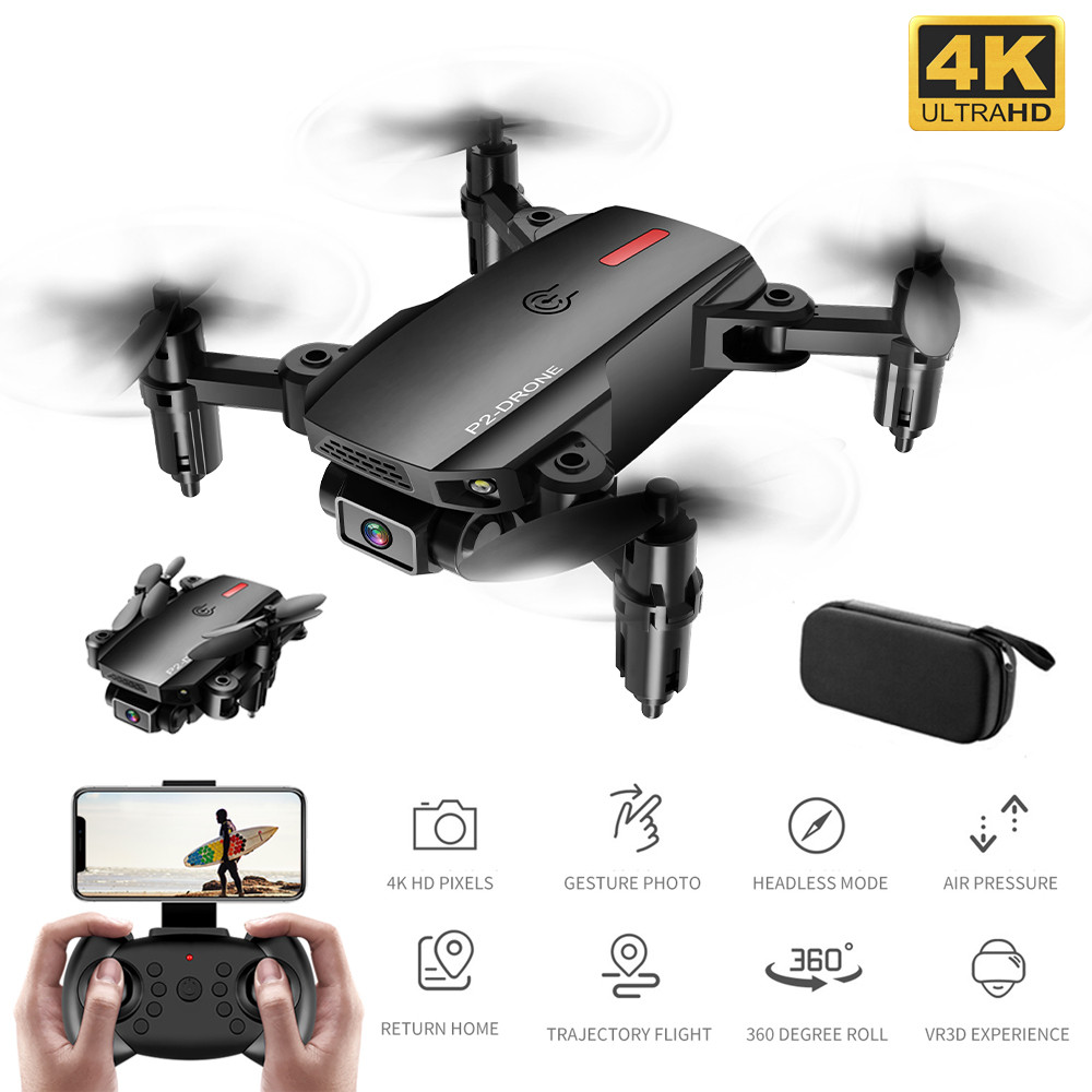 Mini Drone Quadcopter 4K Camera FPV Drone Gravity Sensor Height Hold Foldable RC Quadrocopter Toy Gift