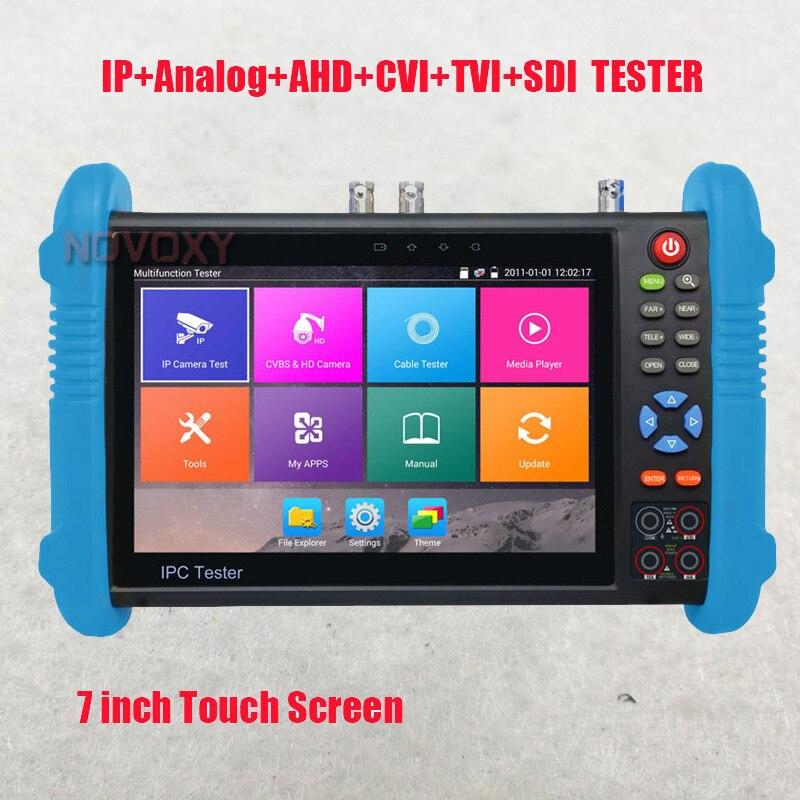 Free Shiping 7 Inch IPS Touch Screen 4K H.265 IP Full 4K All In One IPC Tester  AHD TVI CVI SDI HDMI
