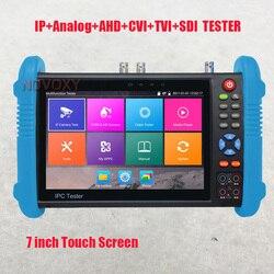 Freies shiping 7 inch IPS touchscreen 4K H.265 IP Volle 4K Alle in Einem IPC Tester AHD TVI CVI SDI HDMI