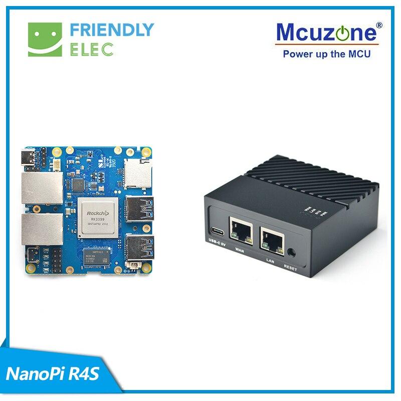 FriendlyELEC NanoPi R4S 1 ГБ/4 ГБ, шлюз Ethernet с двумя Гбит/с, поддержка системы OpenWrt LEDE, V2ray SSR Linux Rockchip RK3399