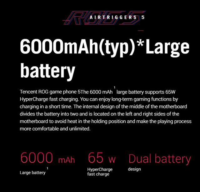Global Rom ASUS ROG 5 5pro 5G Gaming Smartphone 16GB 256GB Snapdragon888 Android 11 Mobil phone 6000Mah Battery 65W Fast charger 3