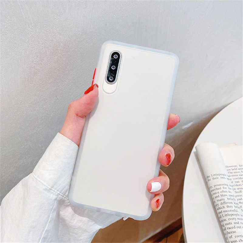 Matte caso de telefone duro para xiao mi nota vermelha 8 t 8 pro 7 6 caso mi a3 lite 9 t 9 pro cc9 cc9e vermelho mi 7 7a 8 8a k20 k30 capa de telefone