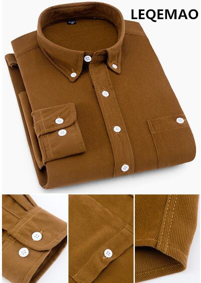 2019 Autumn New Men's Business Shirt Maa1 Men's Long-sleeved Slim Thick Casual Shirt 2270KK-1-30