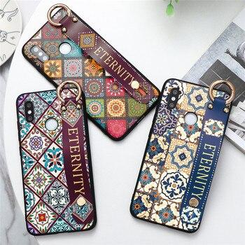 Vintage correa de muñeca carcasa de teléfono con soporte para Xiaomi Redmi 4A 6A 7A 8A S2 K20 nota 3 4X 5A 5 5 5 6 6 7 8 Pro Nota 8T TPU caso suave