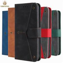 Leather Tricolor Stitching Flip Case For Huawei P40 Lite P30 Pro Y5P Y6P PSmart 2020 Honor 9S Nova 4E 6SE 7i Holder Wallet Cover