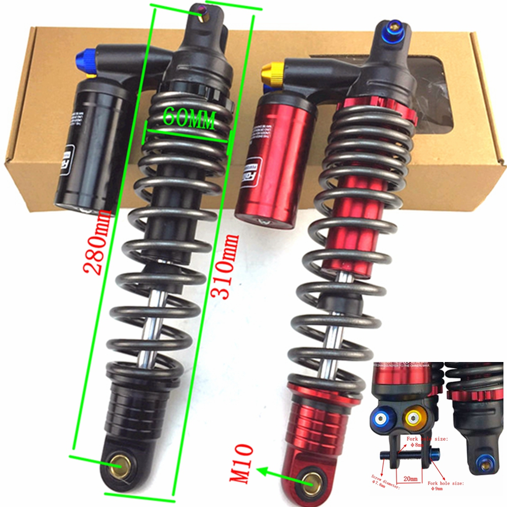 wetoto One Piece 280mm Universal Motorcycle Air Shock Absorbers