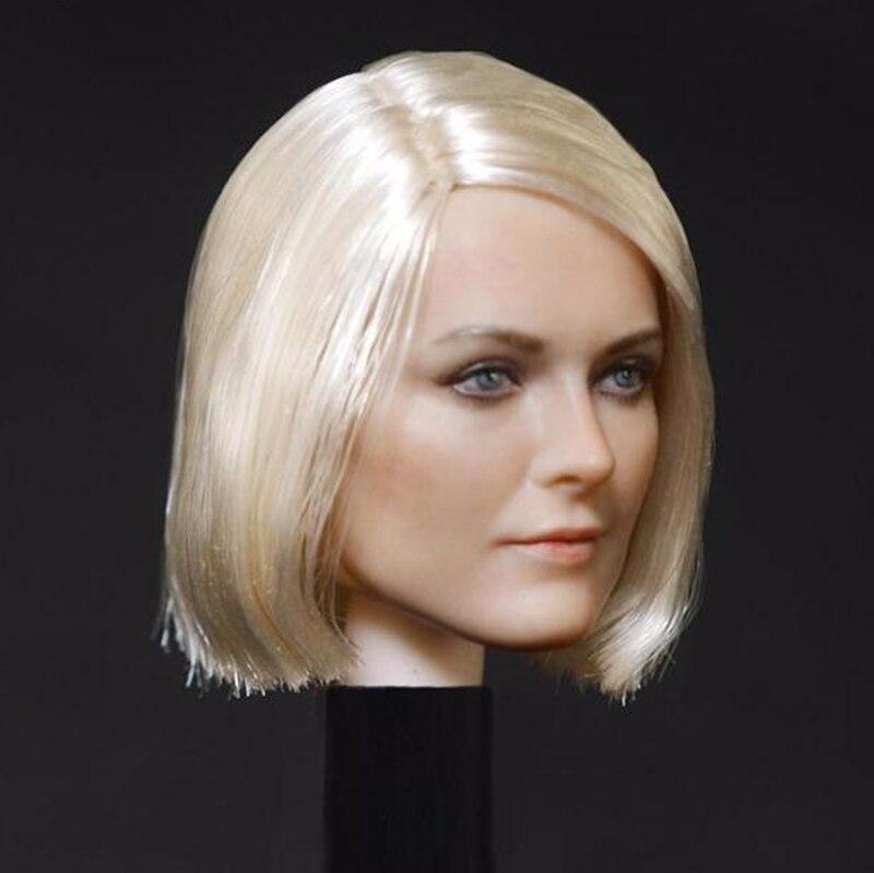 16 escala fêmea bela cabeça escultura modelo
