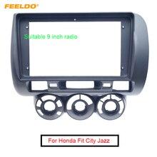 هيكل لاستريو السيارة وفتحة الصوت من FEELDO, إطار لوحة دي في دي ، 9 بوصة ، لهوندا فيت سيتي جاز 2006 (RHD)