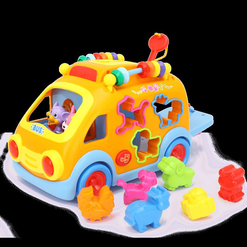 Tianyuan Toy Department Of Music 988 Happy Bus Children Early Education Car Educational Electric Toy Car