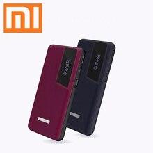 Xiaomi power Bank 20000 мАч Внешнее портативное зарядное устройство с кожаным узором цифровой дисплей power bank Быстрая зарядка аксессуары для телефонов