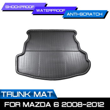 Car Rear Trunk Boot Mat Waterproof Floor Mats Carpet Anti Mud Tray Cargo Liner For Mazda 6 2008 2009 2010 2011 2012 image