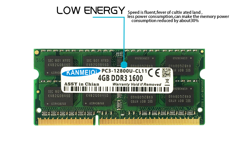 KANMEIQi DDR3 Laptop Memory With 2GB 4GB 8GB And 1333Mhz 1600MHZ 1866MHZ 13