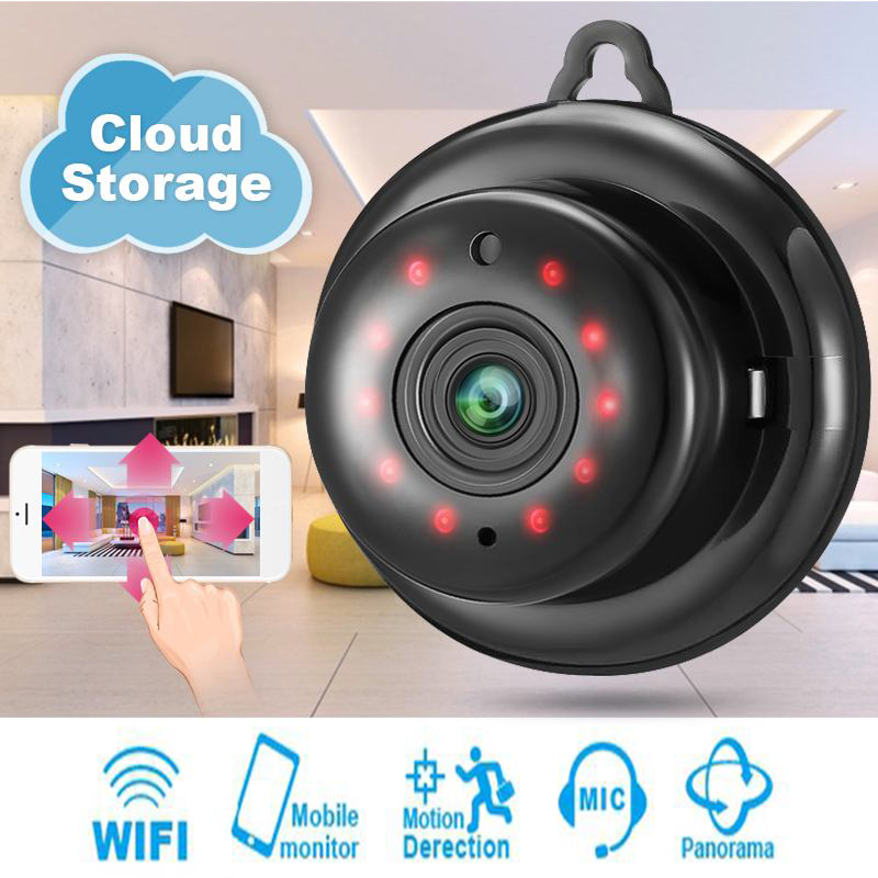 Mini WiFi Camera 720P HD IR Nachtzicht Home Security IP Camera Onvif CCTV P2P Bewegingsdetectie Babyfoon Cam Baby Monitor