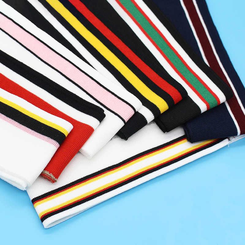여름 립 스 판 덱 스 패브릭 니트 칼라 커 프 스 원단 유니폼 및 폴로 셔츠 의류 액세서리 ka17