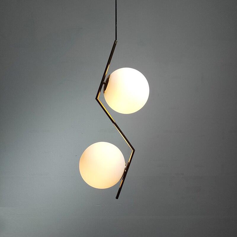 Modern Led Pendant Lights Lighting Luminaire Industriel Hanging Lamp Lustre Suspension Ball Glass Pendant Lamps Kitchen Fixtures