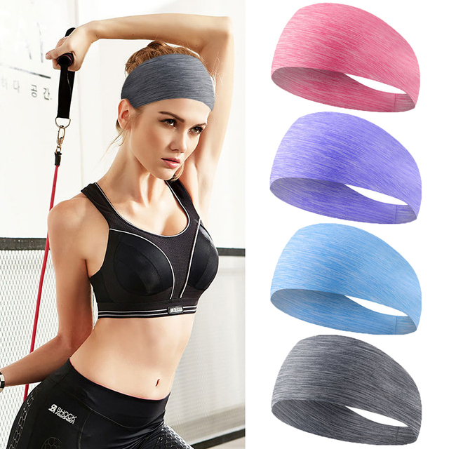 yoga hair bands Sports Hair with Lycra Breath Conducting Sweat Belt Running Fitness Yoga Dance Sweat Band