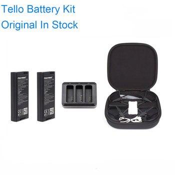 Orijinal DJI Tello kitleri pil ve şarj Hub1100 mAh 3.8 V Tello MiNi Drone durumda çantası uçuş pil aksesuarları
