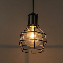 E27 Loft Industrial Pendant Lights Lampshade Vintage LED Iron Metal Craft Cage Light AC 85-265V Bar Cafe Home Decor Hanging Lamp