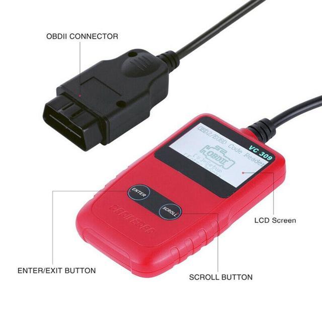 OBD2 Scanner de voiture   Lecteur de Code, moteur, outil de Diagnostic, OBD 2 Scanner de logiciel CD gratuit, outils de balayage automobile 1 pièce