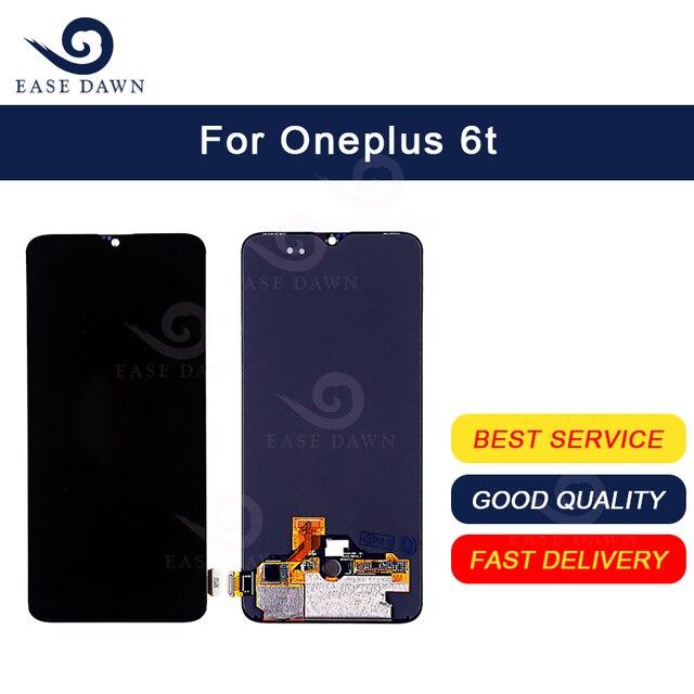 עבור Oneplus 6T LCD AMOLED LCD תצוגת מסך מגע Digitizer עצרת עבור Oneplus תצוגה מקורי