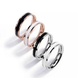 Обручальные кольца 4 мм, кольцо из нержавеющей стали, обручальные парные ювелирные изделия для женщин, розовое золото, минималистичный пода...