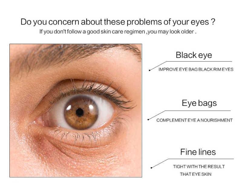 24k del Collageno Under Eye Gel Mask Anti Invecchiamento Idratante duratura nutrire Occhio Schiarire le occhiaie TSLM1