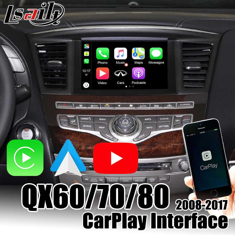 Lsailt Wireless Carplay Interface Box For Infiniti Qx80 Qx50 Qx60 Qx70 2014 2019 Support Youtube Android Auto Aliexpress
