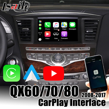 Lsailt Wireless CarPlay Interface box for Infiniti QX80 QX50 QX60 QX70 2014-2019 support YouTube , Android Auto image