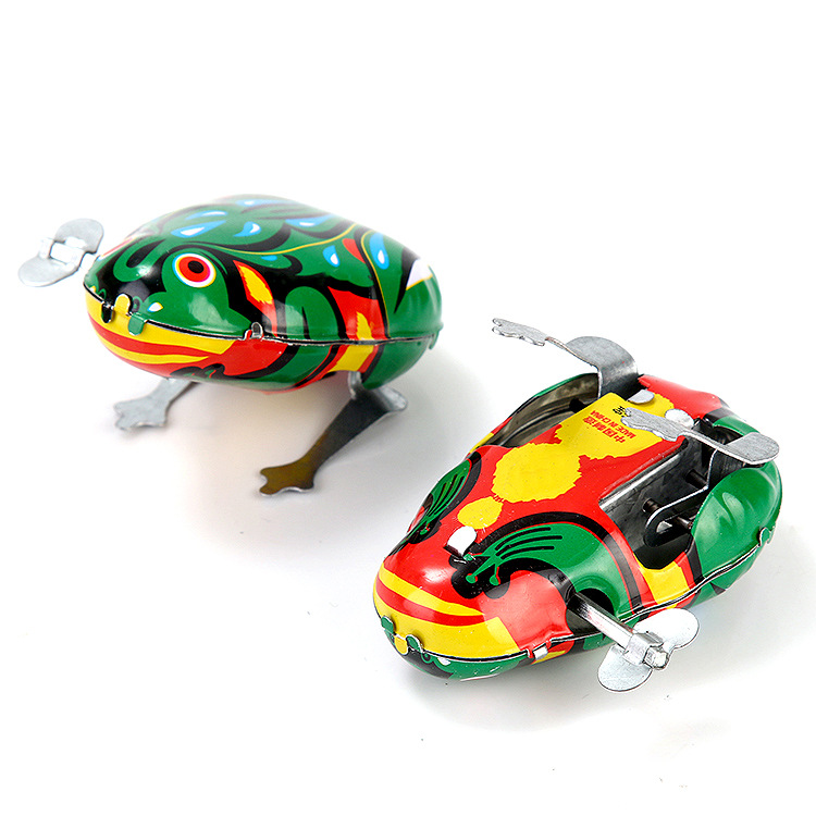 80 Nostalgic Winding Algam On Spring Frog Animal 0-1-Year-Old Baby Children Small Toys Booth Goods Special Offer
