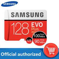 100% original Samsung sd micro 128gb tarjeta de memoria flash 100 MB/S 32gb 64gb cartao gb de memoria de Clase 10 UHS-I U3 4K 256GB TF tarjeta