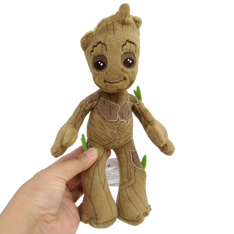 22cm Original Disney Marvel Groot Plush Dolls Toys Cute Marvel Avengers Guardians of the Galaxy Groot Stuffed Plush Toys Gifts