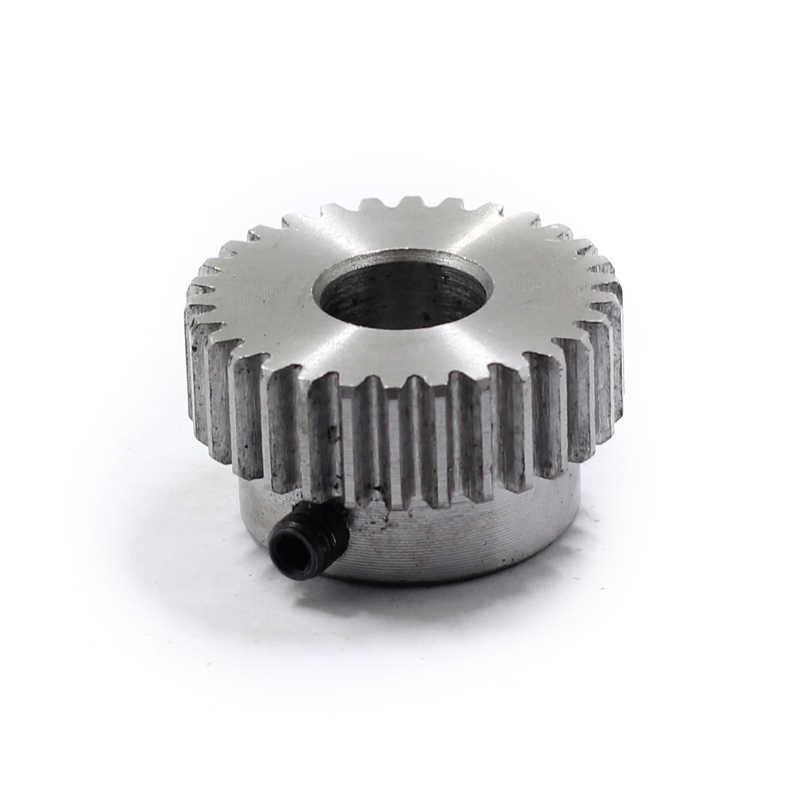 1 adet düz dişli raf pinyonu 12/14/ 15/16/18/20/24 diş Mod 1M çap 6mm 6.35mm 8mm düz diş pozitif dişli 45 # çelik CNC