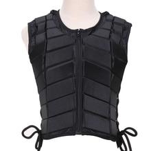 Защитный жилет для верховой езды в стиле унисекс с подкладкой из ЭВА для взрослых, спортивные демпфирующие аксессуары для езды