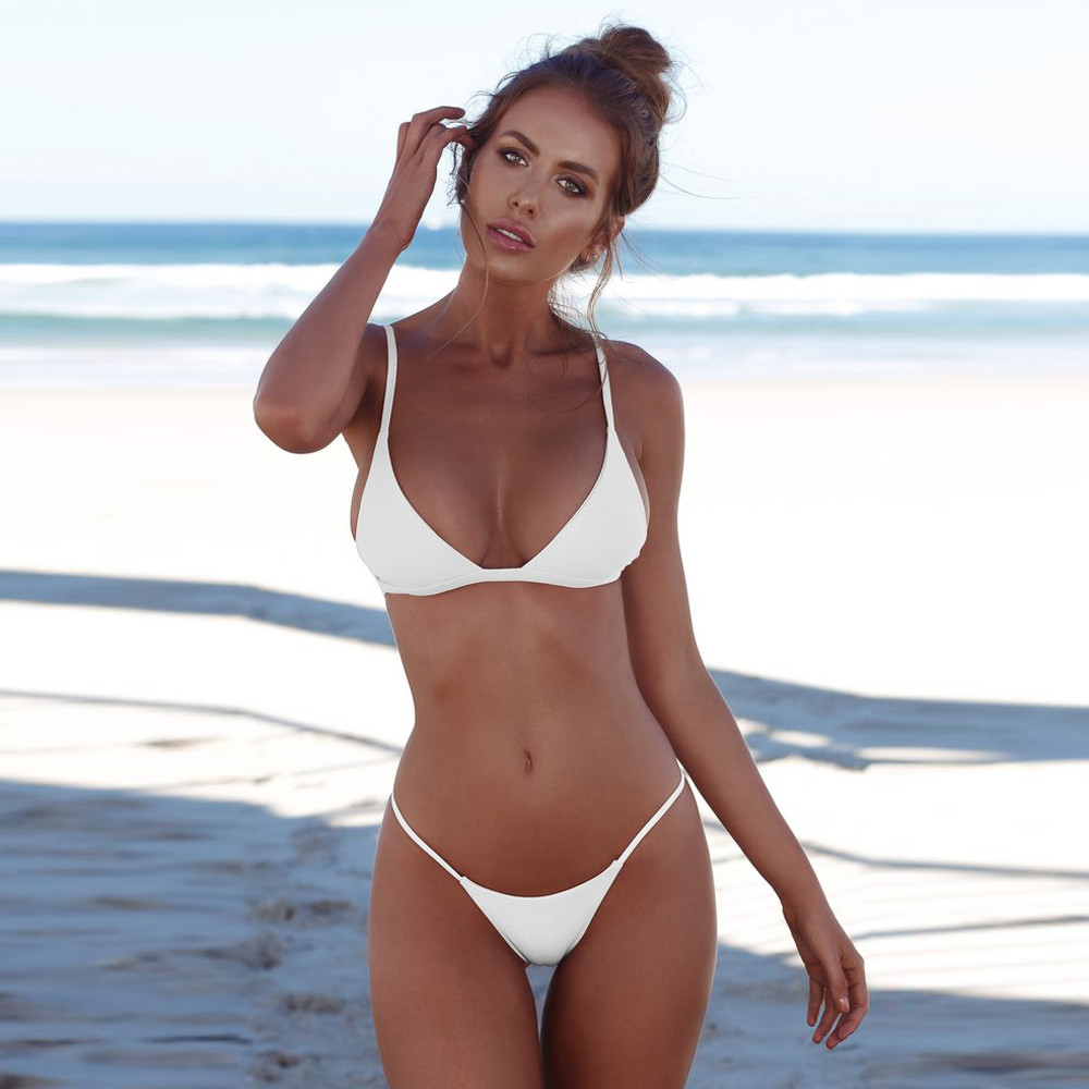 #Z1  Women Bandeau Sexy Bikini Set Bandage Micro Bikini Set Push Up Brazilian Swimwear Women Swimsuit Beachwear Swiming Suit