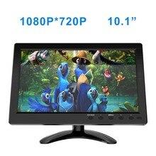 """FSU Monitor de pantalla portátil 1024x600 LCD, vista completa, HDMI, VGA, AV, Industrial, capacitivo, 10,1 """", Monitor de visión trasera de coche"""