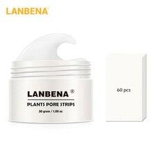 Средство для удаления угрей LANBENA маска для носа полоска пор черный пилинг лечение акне глубокое очищение контроль жирности уход за кожей