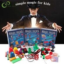 Rompecabezas Simple de magia para principiantes, juego de equipo mágico para niños, trucos de mago, espectáculo de actuaciones con Manual de instrucciones GYH