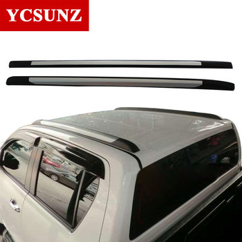 Roof Rails Car Accessories Silver Roof Rails Rack Carrier Bars For Toyota Hilux Revo Rocco 2016-2019 2020 Double Cabin SR5
