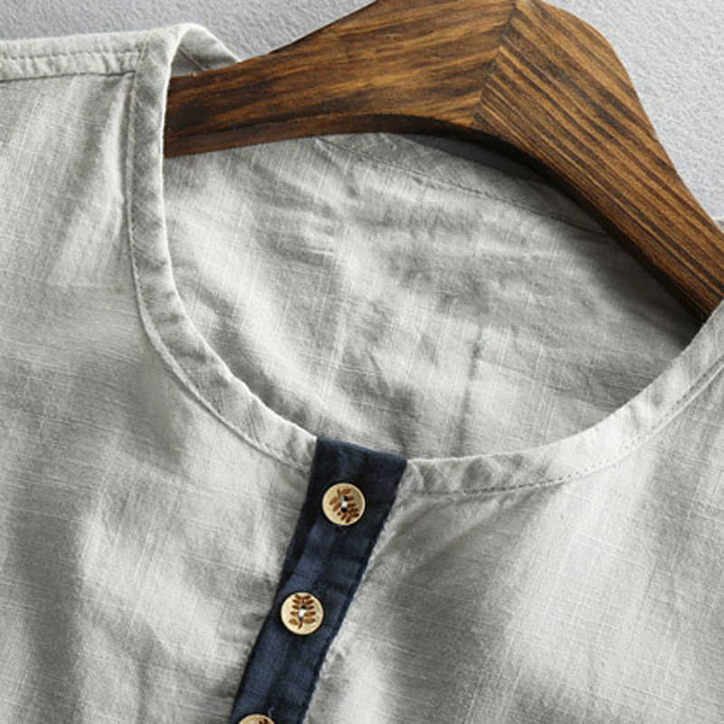 Yüksek kaliteli erkek gömlek yaz Streetwear Vintage kısa kollu pamuklu gömlek adam 4XL 5XL artı boyutu üst Tees erkek giyim A753