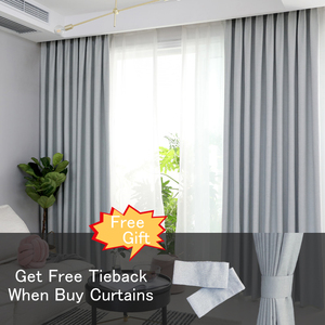 Image 3 - CITYINCITY solid 100% blackout Curtain For Living room Home Decor thick Faux linen Curtains for Bedroom ready made custom made