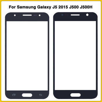 New LCD Front Glass Lens For Samsung Galaxy J5 2015 J500 J500H J500FN J500F J500M Touch Screen Panel Digitizer Outer Glass Lens image