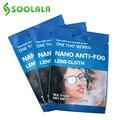 SOOLALA 3 шт очки Анти-туман ткань 15x14,5 см Микрофибра Очиститель очков для линз аксессуары для очков Анти-запотевание ткань