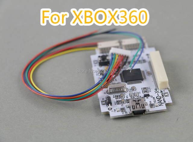 FOR XBOX 360 original NAND X CABLE kit for xbox360 (The mainboard of nand x comes same as photo, without crystal box pack)