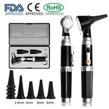 Kit diagnostico ENT professionale medico boroscopio portatile controllo cerume endoscopio LED otoscopio a fibra diretta con punte specsel