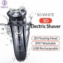 SOOCAS SO WHITE PINJING Мужская электрическая бритва моющаяся USB перезаряжаемая 3D плавающая режущая головка с умным управлением для бритья бороды