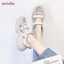 Wohdhe повседневные женские спортивные сандалии на толстой платформе