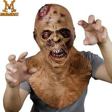 Molezu Halloween Horror Latex Mask Monster Scary Mask Suit For Halloween Easter Party Mask(China)